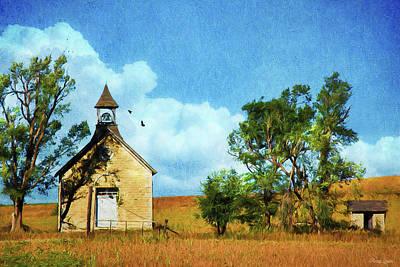 Kansas Prairie Schoolhouse Poster