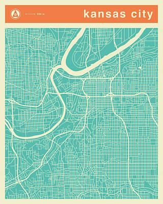 Kansas City Street Map Poster