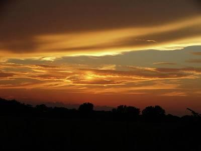 Kansas Summer Sunset Poster