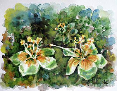 Kapok Flowers  Poster by Zaira Dzhaubaeva