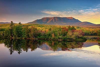 Katahdin At Sunset Poster