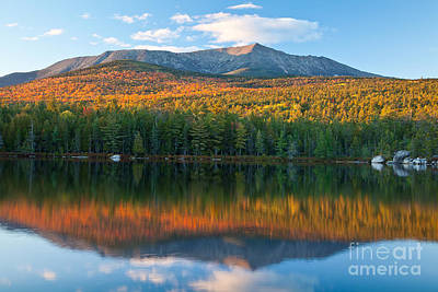 Katahdin Glow Poster by Susan Cole Kelly