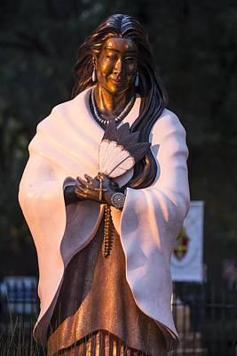 Kateri Tekakwitha Statue Poster by Christian Heeb