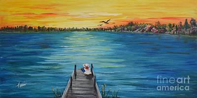 Kathy's Lake Poster by Terri  Duncan