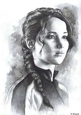 Katniss Poster by Nienke Feirabend