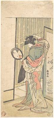 Katsukawa Shun'ei    A Courtesan Looking At Her Reflection In A Hand Mirror Poster