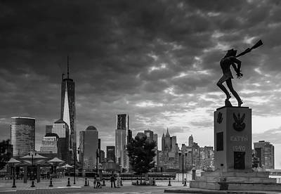 Poster featuring the photograph Katyn New World Trade Center In New York by Ranjay Mitra