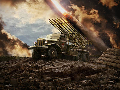 Katyusha Soviet Rocket Launcher Poster by Anton Egorov