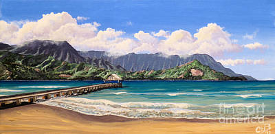 Kauai Surf Paradise Poster by Chad Berglund