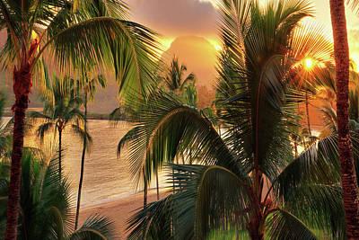 Olena Art Kauai Tropical Island View Poster