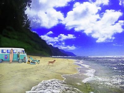 Kauai Vw Surfer Poster