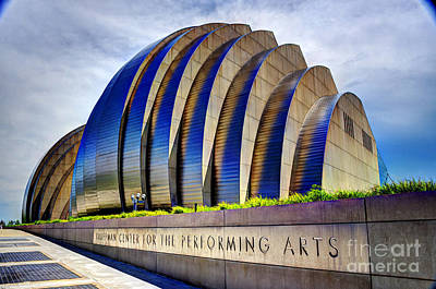Kauffman Center For The Performing Arts Poster by Jean Hutchison