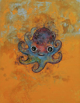 Baby Octopus Poster by Michael Creese