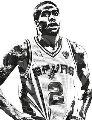 Kawhi Leonard Sanantonio Spurs Pixel Art 3 Poster by Joe Hamilton