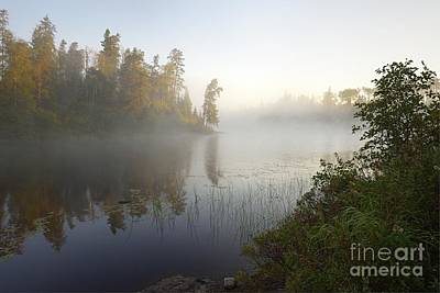 Poster featuring the photograph Kawishiwi Morning Fog by Larry Ricker