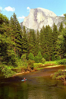 Kayak Below Half Dome Poster