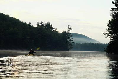 Kayak In The Fog Poster