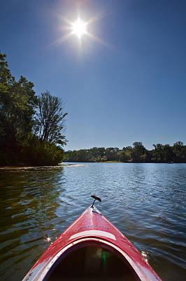 Kayak Morning Poster by Steve Gadomski
