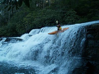 Kayak Triple Falls Poster by Steven Sloan
