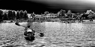 Kayaking On Old Forge Pond Poster