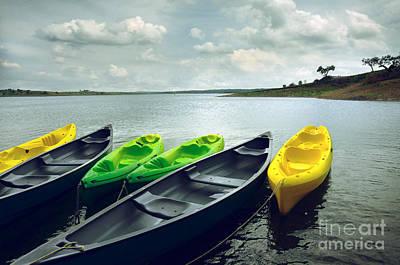 Kayaks Poster by Carlos Caetano