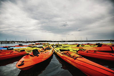 Kayaks Poster