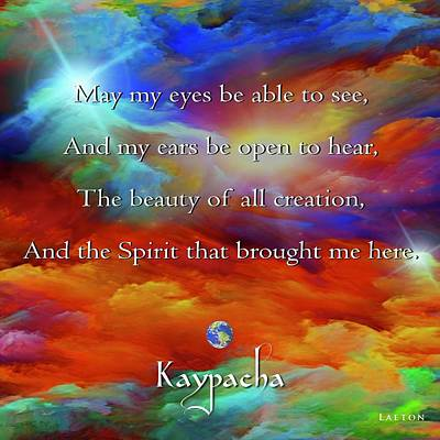 Kaypacha August 17,2016 Poster by Richard Laeton