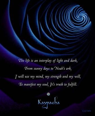 Kaypacha's Mantra 4.28.2015 Poster by Richard Laeton