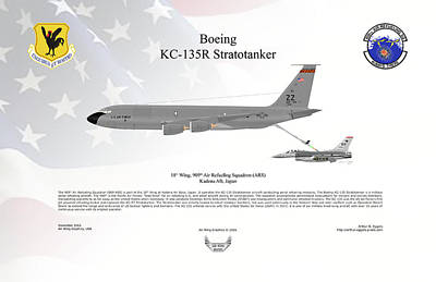 Kc-135r F-16c Poster by Arthur Eggers