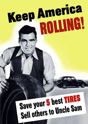 Keep America Rolling Poster by War Is Hell Store