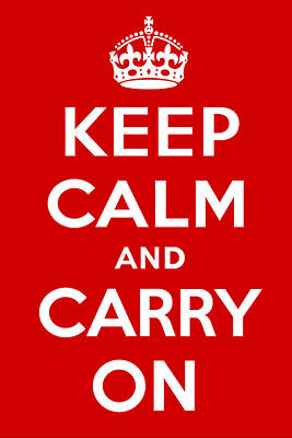 Keep Calm And Carry On Poster by S Martin