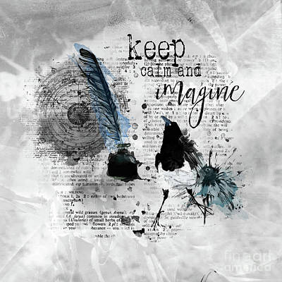 Keep Calm And Imagine Poster