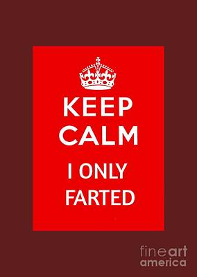Keep Calm I Only Farted Poster by Pd