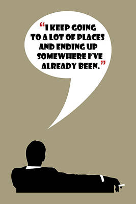 Keep Going Places - Mad Men Poster Don Draper Quote Poster