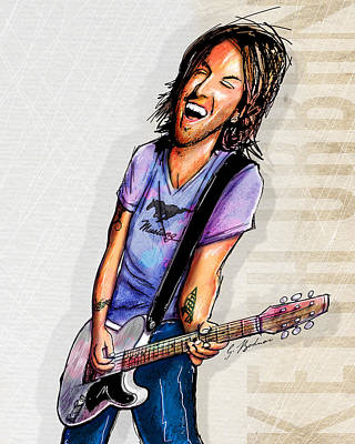 Keith Urban II Poster by Gary Bodnar
