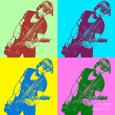 Keith Urban Pop Art Poster Poster
