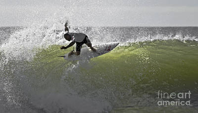 Kelly Slater At The Quicksilver Pro 2011 Poster by Scott Evers