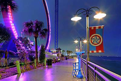 Poster featuring the photograph Kemah Boardwalk - Amusement Park - Texas by Jason Politte