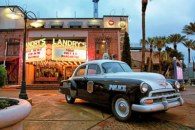 Poster featuring the photograph Kemah Police Car At The Kemah Boardwalk - Texas by Jason Politte