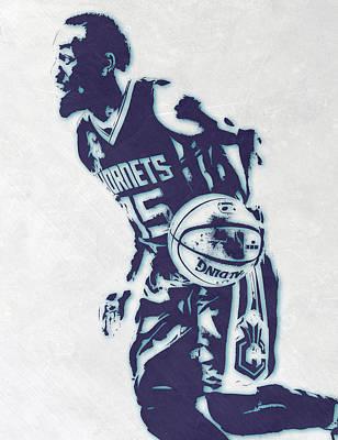 Kemba Walker Charlotte Hornets Pixel Art 3 Poster by Joe Hamilton