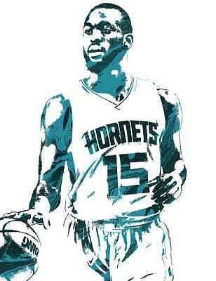Kemba Walker Charlotte Hornets Pixel Art 5 Poster by Joe Hamilton