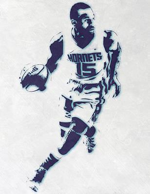 Kemba Walker Charlotte Hornets Pixel Art Poster by Joe Hamilton