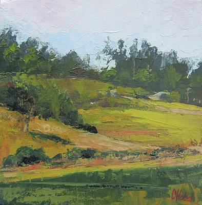 Poster featuring the painting Kenilworth Hills Queensland Australia by Chris Hobel