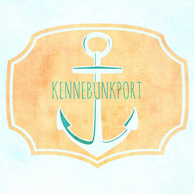 Kennebunkport Sea Anchor Poster by Brandi Fitzgerald