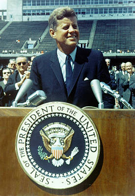 Kennedy At Rice University Poster