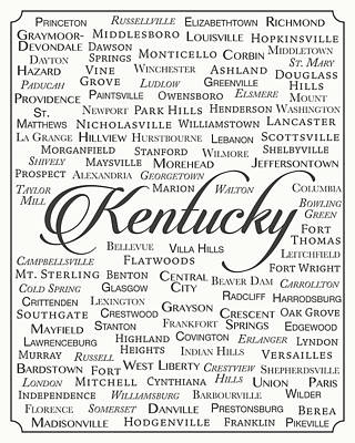 Kentucky Poster by Finlay McNevin