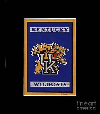 Ky Wildcats Logo T-shirt Poster by Herb Strobino