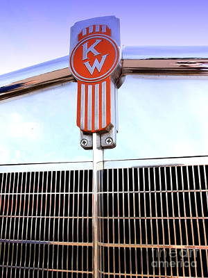 Kenworth Insignia And Grill Poster