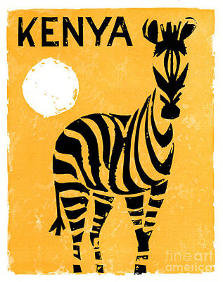 Kenya Africa Vintage Travel Poster Restored Poster