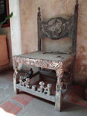 Kenyan African Antique Carved Chair Poster by Exploramum Exploramum